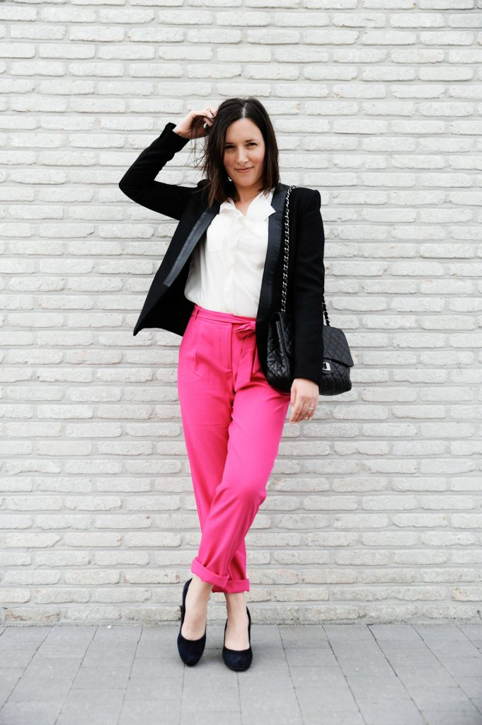 HOW TO WEAR THAT HOT PINK PANTS