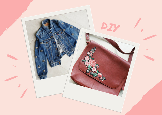 DIY : HOW TO CUSTOMIZE YOUR DENIM JACKET AND HANDBAG
