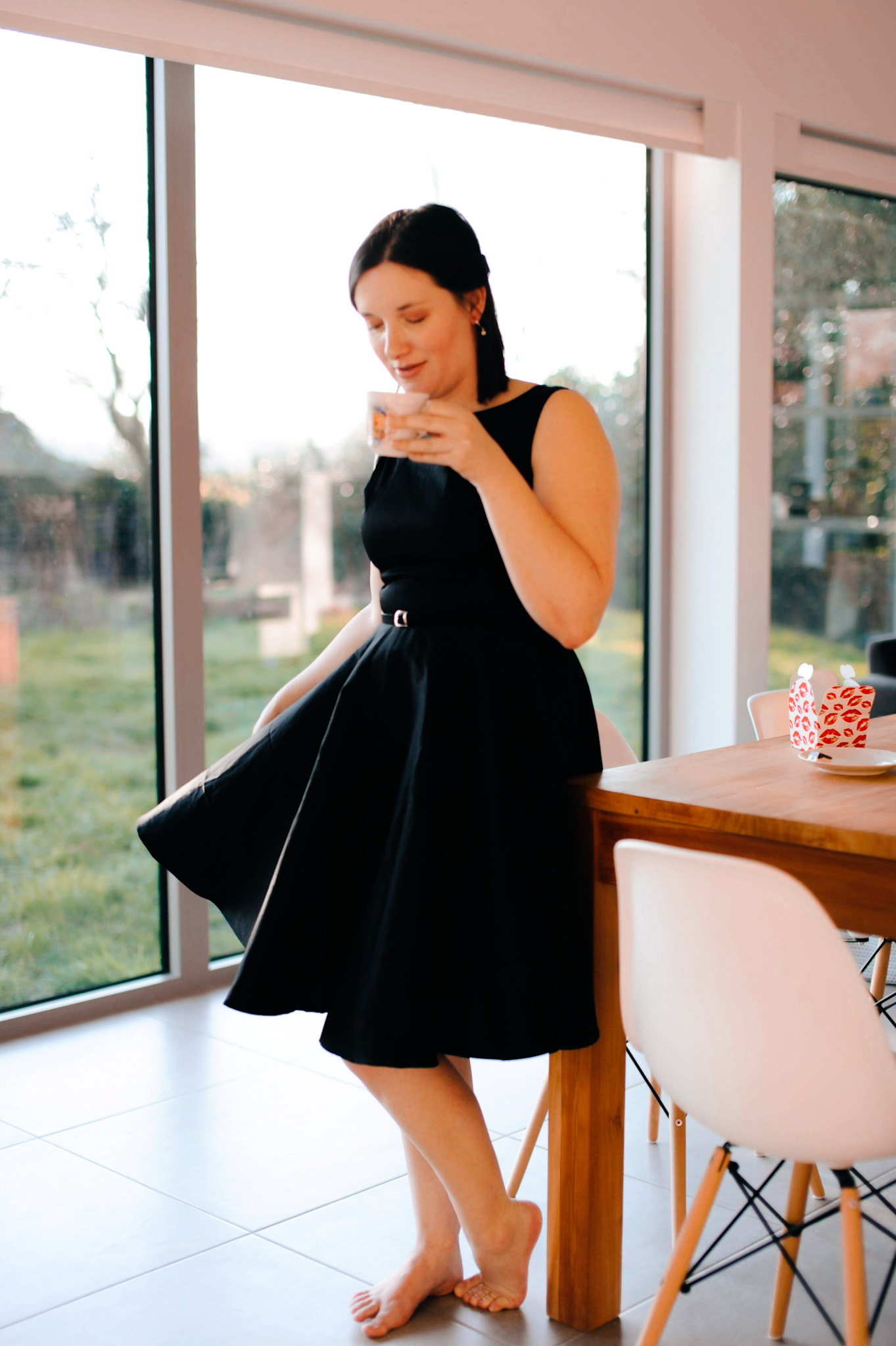 a little black dress via grace karin