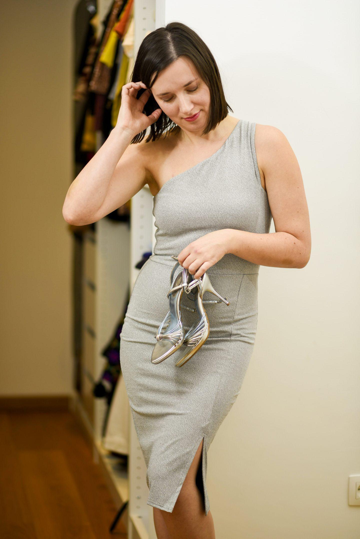 dameskledij zilveren jurk