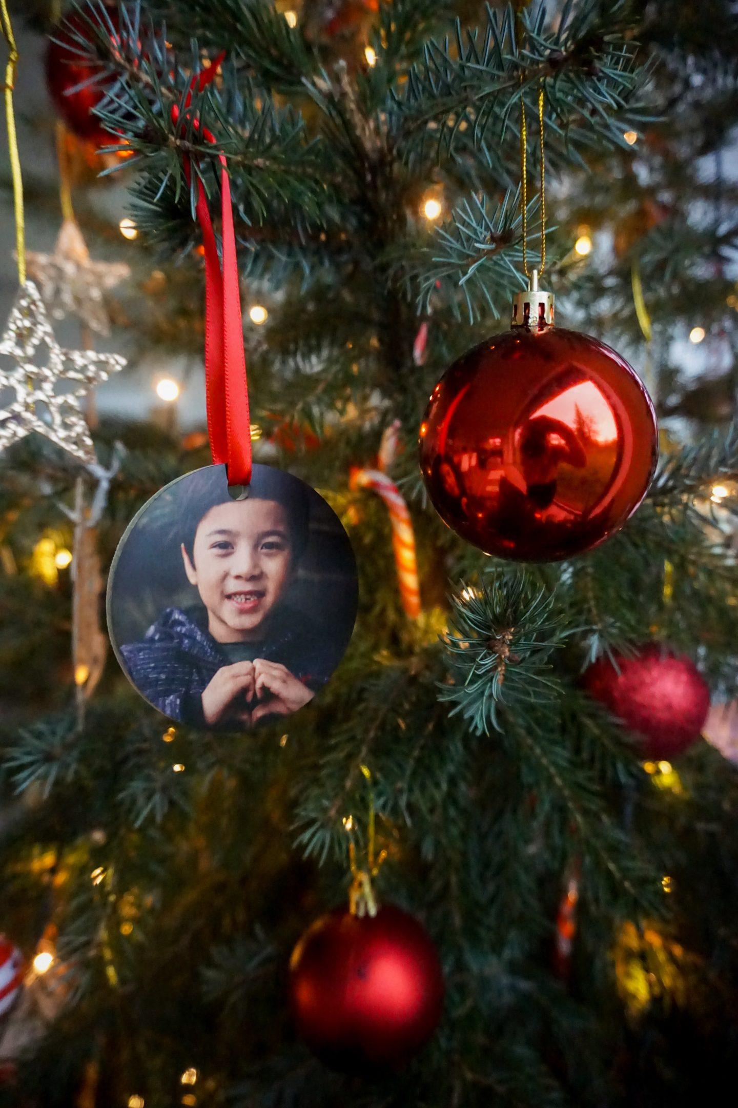 houten kersthanger foto