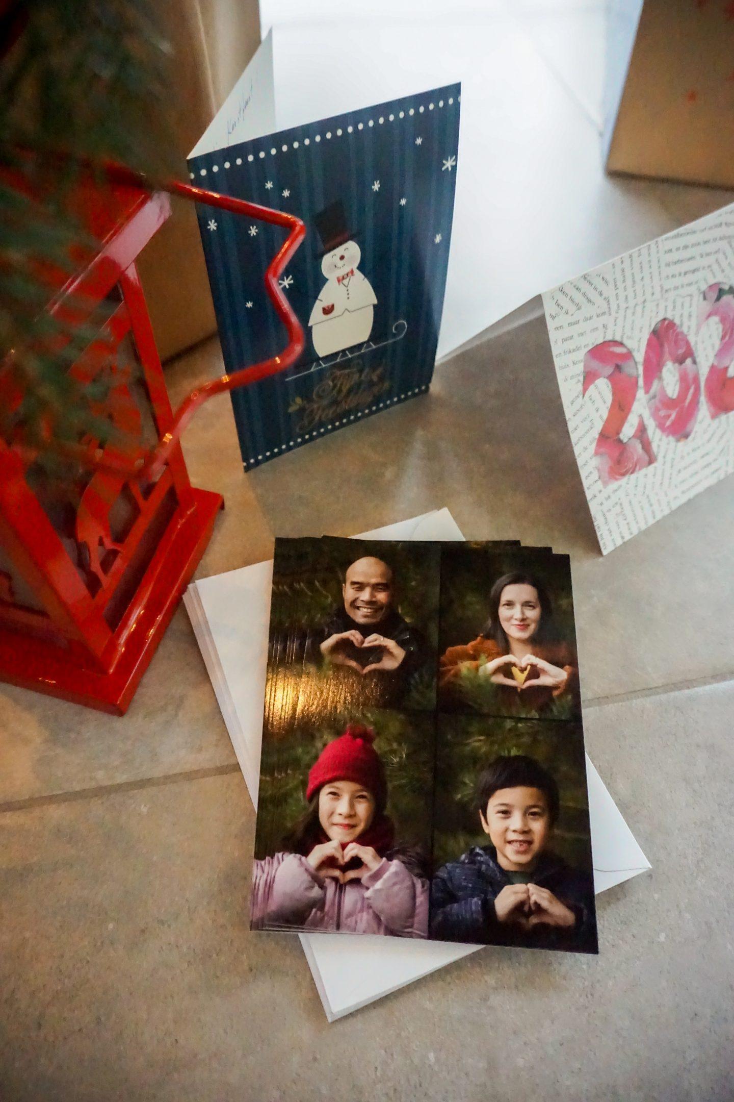 kerstkaart foto gepersonaliseerd